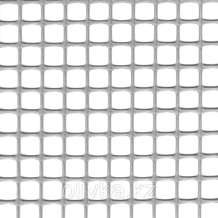 Сетка садовая, 1 × 30 м, ячейка 1 × 1 см, пластик, серебристая, Quadra 10