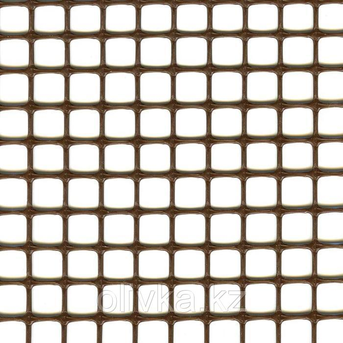 Сетка садовая, 1 × 30 м, ячейка 1 × 1 см, пластик, коричневая, Quadra 10