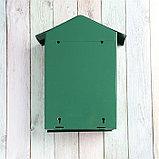 Ящик почтовый с замком, вертикальный, «Домик», зелёный, фото 4