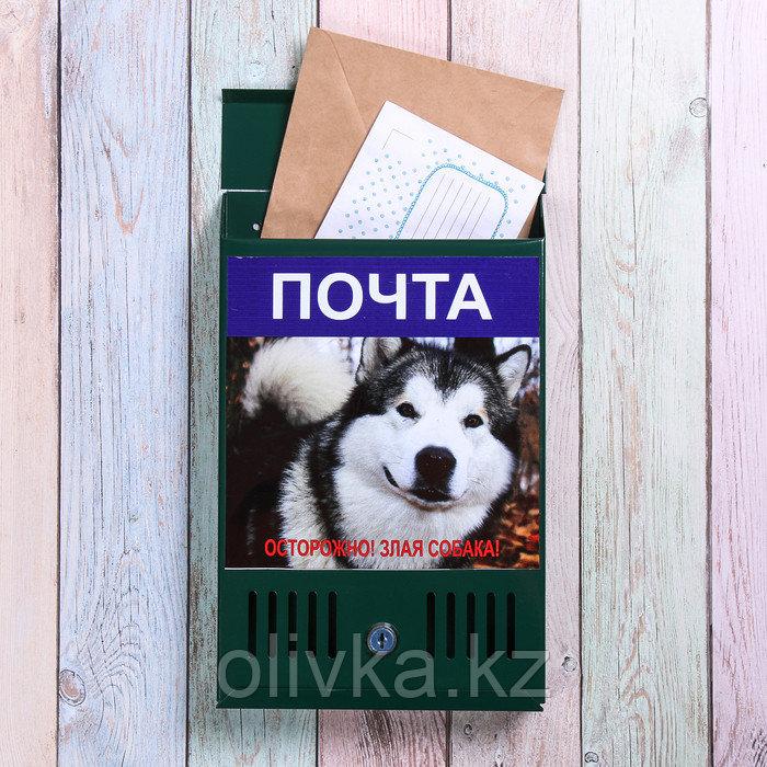 Ящик почтовый с замком, вертикальный, «Фото», МИКС, зелёный