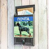 Ящик почтовый с замком, вертикальный, «Фото», МИКС, серебристый, фото 2