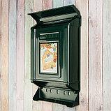 Ящик почтовый, пластиковый, «Декор», с замком, зелёный, фото 3