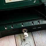 Ящик почтовый, пластиковый, «Декор», с замком, зелёный, фото 4