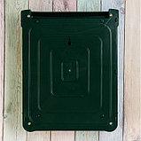 Ящик почтовый, пластиковый, «Декор», с замком, зелёный, фото 5