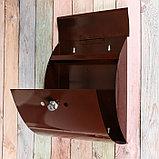 Ящик почтовый с замком, вертикальный, «Сфера», коричневый, фото 3
