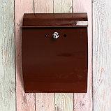 Ящик почтовый с замком, вертикальный, «Сфера», коричневый, фото 4