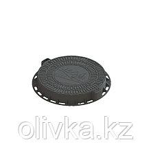 Люк садовый «Лого», d = 80 см, пластик, чёрный