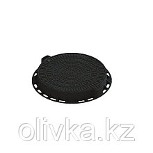 Люк «Лого», d = 80 см, пластик, чёрный