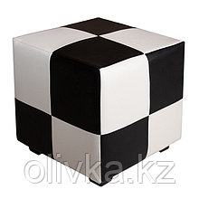 Пуф квадратный Марио 400х400х380 Черно-белый
