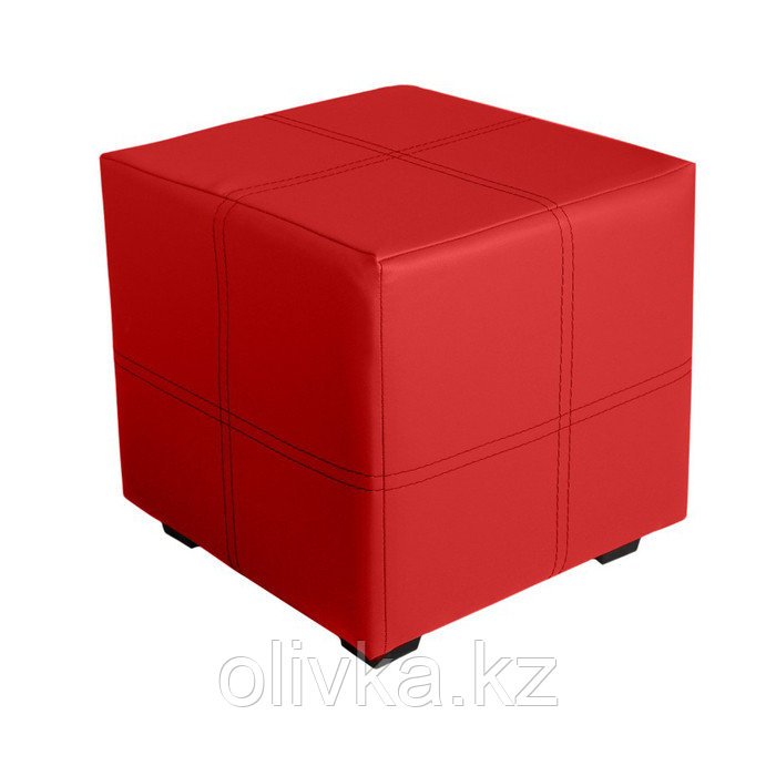 Пуф квадратный Марио 400х400х380 Красный