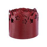 Лента бордюрная, 0.15 × 9 м, толщина 1.2 мм, пластиковая, фигурная, красная, фото 2