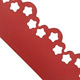 Лента бордюрная, 0.15 × 9 м, толщина 1.2 мм, пластиковая, фигурная, красная, фото 3