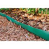Лента бордюрная, 0.3 × 10 м, толщина 1.2 мм, пластиковая, зелёная, Greengo, фото 5