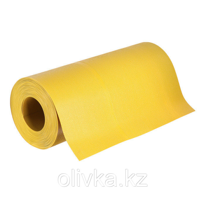 Лента бордюрная, 0.3 × 10 м, толщина 1.2 мм, пластиковая, жёлтая, Greengo