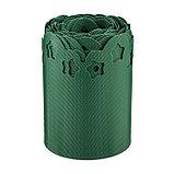 Лента бордюрная, 0.2 × 9 м, толщина 1.2 мм, пластиковая, фигурная, зелёная, фото 2