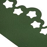 Лента бордюрная, 0.2 × 9 м, толщина 1.2 мм, пластиковая, фигурная, зелёная, фото 3