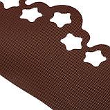 Лента бордюрная, 0.2 × 9 м, толщина 1.2 мм, пластиковая, фигурная, коричневая, фото 3