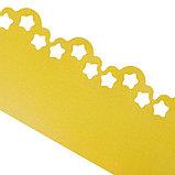 Лента бордюрная, 0.2 × 9 м, толщина 1.2 мм, пластиковая, фигурная, жёлтая, фото 2