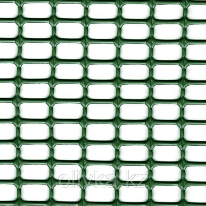 Сетка садовая, 1 × 50 м, ячейка 1,5 × 1 см, пластик, зелёная, HOBBY 10
