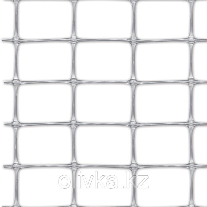 Сетка садовая, 2 × 50 м, ячейка 3,5 × 4,8 см, пластик, MILLENNIUM silver