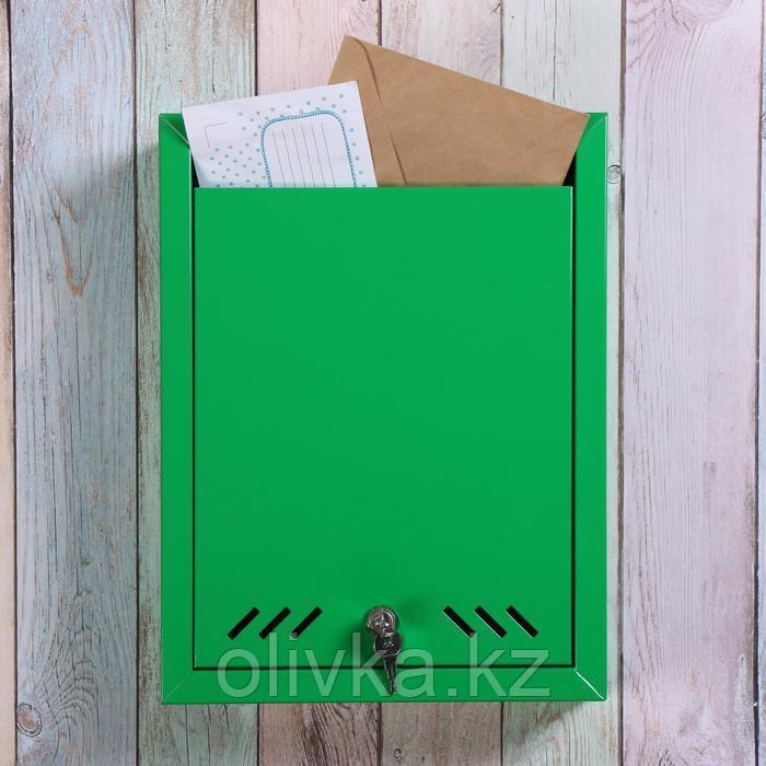 Ящик почтовый «Маил», вертикальный, с замком, зелёный