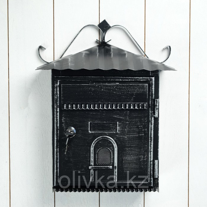Ящик почтовый черный 28*11*35 см