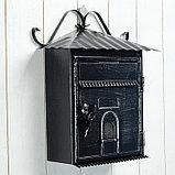 Ящик почтовый черный 28*11*35 см, фото 4