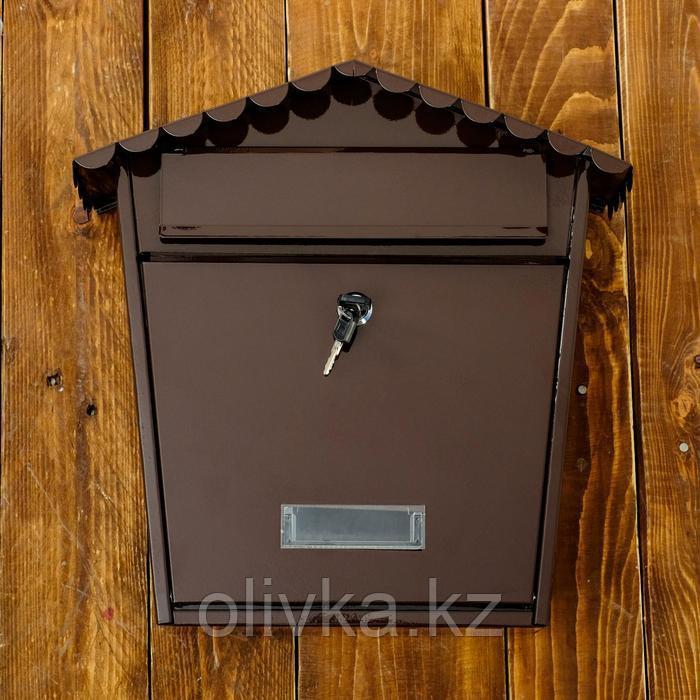 Ящик почтовый коричневый  36*36*33 см