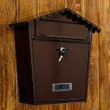 Ящик почтовый коричневый  36*36*33 см, фото 2