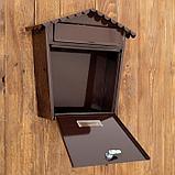 Ящик почтовый коричневый  36*36*33 см, фото 4