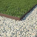 Бордюр для газона, двусторонний, коричневый, фото 4