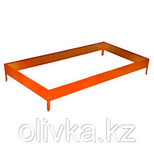 Грядка оцинкованная, 195 × 100 × 15 см, оранжевая, Greengo
