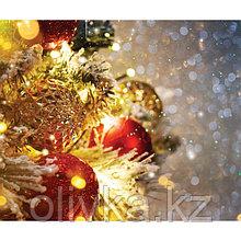 Фотобаннер, 250 × 200 см, с фотопечатью, люверсы шаг 1 м, «Праздничное мерцание»