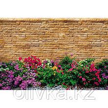 Фотобаннер, 250 × 150 см, с фотопечатью, люверсы шаг 1 м, «Клумба у дома»