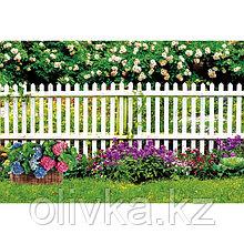 Фотобаннер, 250 × 150 см, с фотопечатью, люверсы шаг 1 м, «Палисадник»