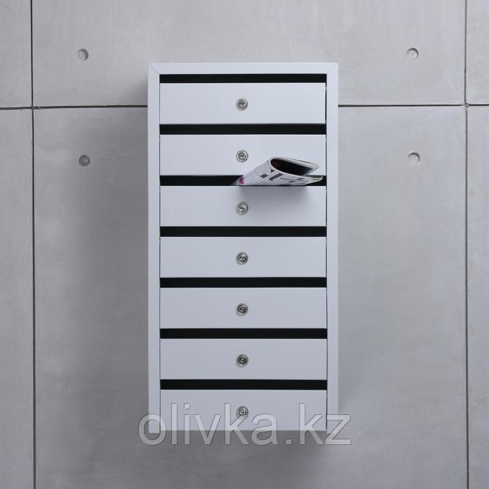 Ящик почтовый, 7 секций, с замком и ключами ЯПП-7