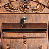 Ящик почтовый №2002, старая медь, фото 4