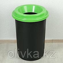 """Контейнер для мусора с крышкой 50 л """"Эко"""", цвет зелёный"""
