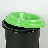 """Контейнер для мусора с крышкой 50 л """"Эко"""", цвет зелёный, фото 2"""