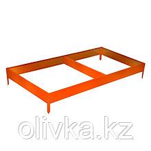 Грядка оцинкованная, 390 × 100 × 15 см, оранжевая, Greengo