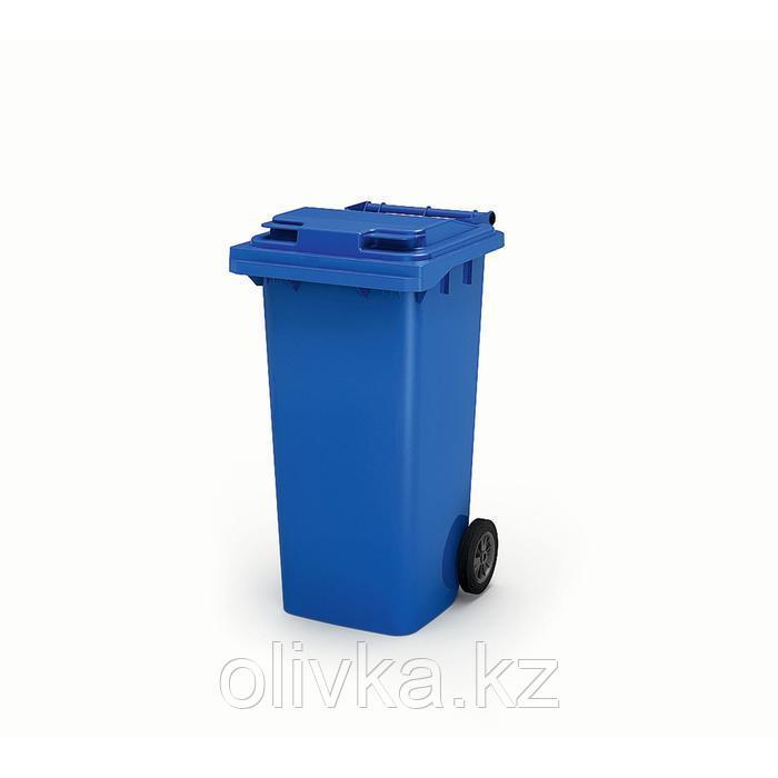 Передвижной мусорный контейнер 120л., МКА-120, 93,7х55,5х48см, синий