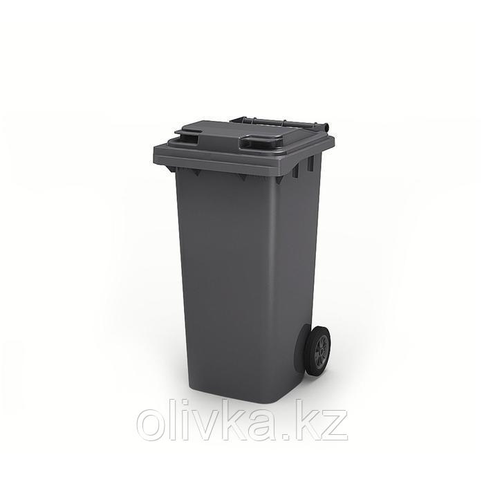 Передвижной мусорный контейнер 120л., МКА-120, 93,7х55,5х48см, серый