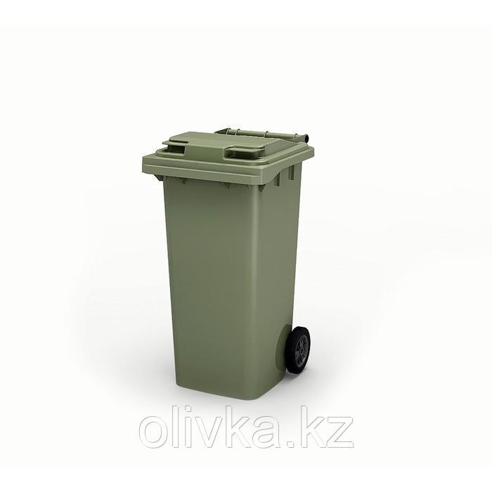 Передвижной мусорный контейнер 120л., МКА-120, 93,7х55,5х48см, зеленый