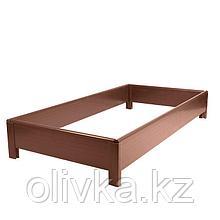 Грядка, 2 × 0,7 × 0,22 м, коричневая, «ЭкоГрядка»