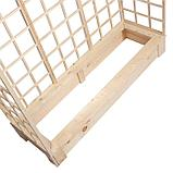 Грядка деревянная, 150 × 50 × 22 см, с тремя шпалерами h = 180 см, фото 5