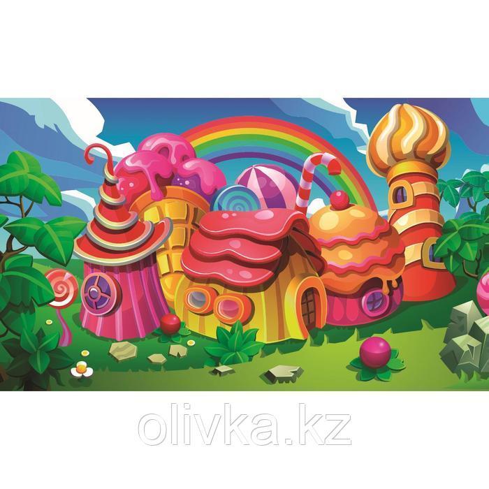 Фотобаннер, 250 × 150 см, с фотопечатью, люверсы шаг 1 м, «Пряничный домик»