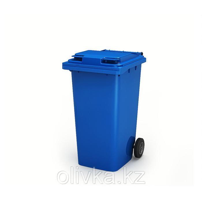Передвижной мусорный контейнер 240л., МКА-240, 106,9х72,1х58,2см, синий