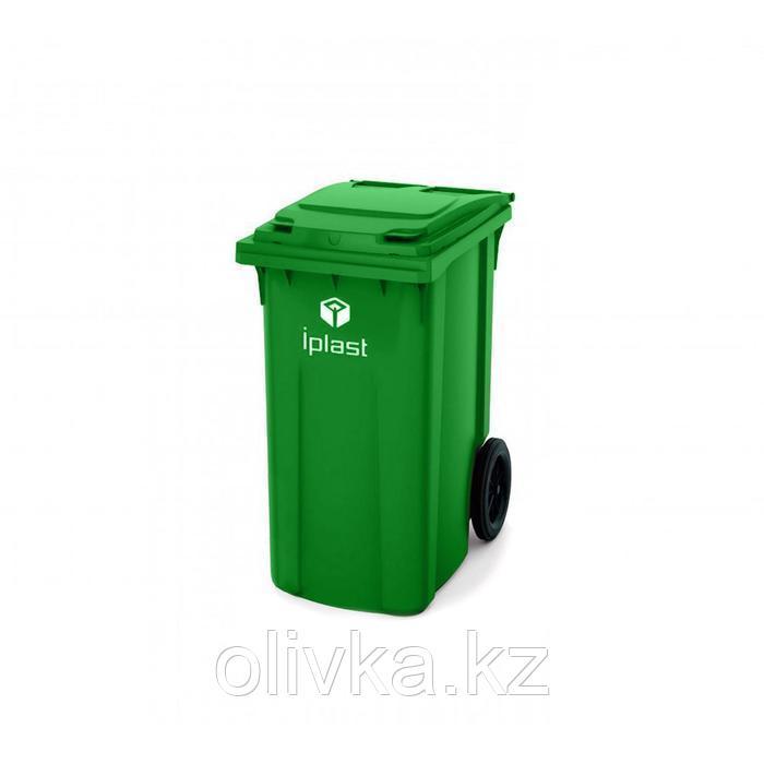 Передвижной мусорный контейнер 360л., МКА-360, 102х57,5х57,5см, зеленый