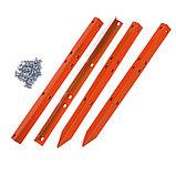 Грядка оцинкованная, 295 × 100 × 34 см, оранжевая, Greengo, фото 3