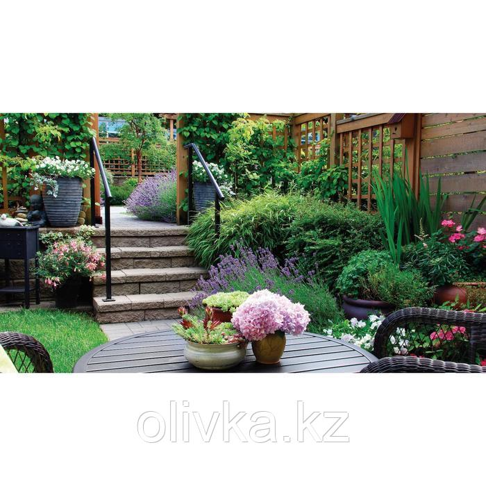 Фотобаннер, 300 × 160 см, с фотопечатью, люверсы шаг 1 м, «Во дворе»